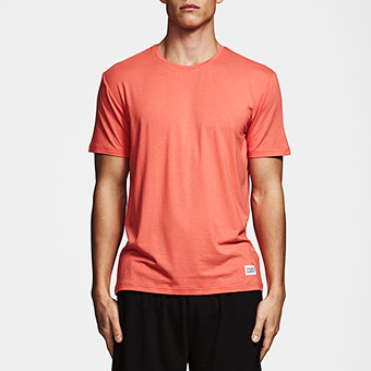 Bamboo Tee - Hot Coral Red