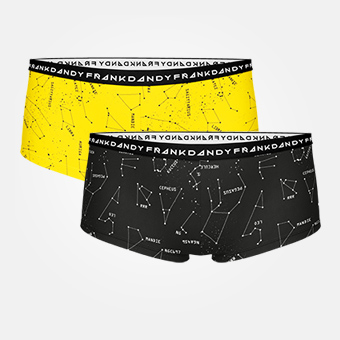 2-pack Women's Starsign Boxer - Black/Freesia