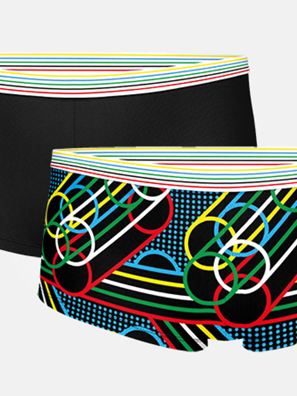 2-pack Women's Rings Boxer - Black