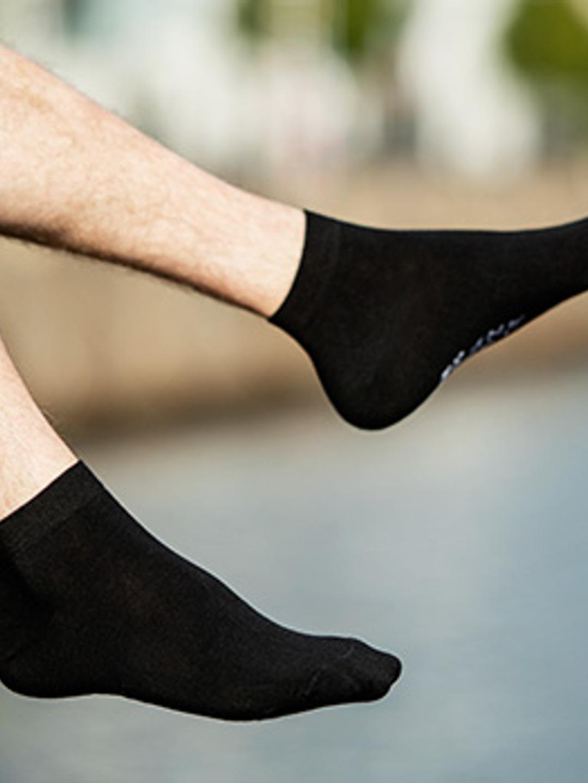 Bamboo Ankle Sock - Black