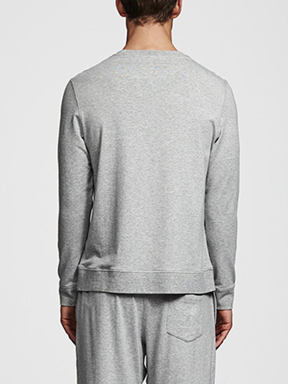 Bamboo Long Sleeve Top - Grey Melange
