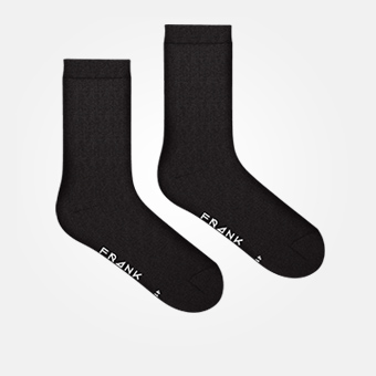 Black - Bamboo Solid Crew Sock