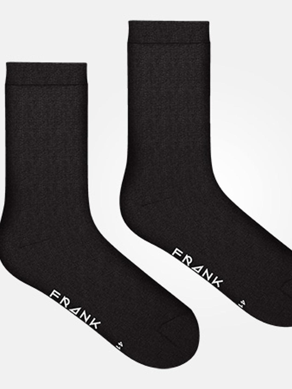 Black - Bamboo Solid Crew Sock