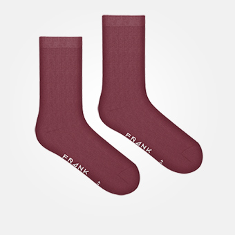 Dark Red - Bamboo Socks