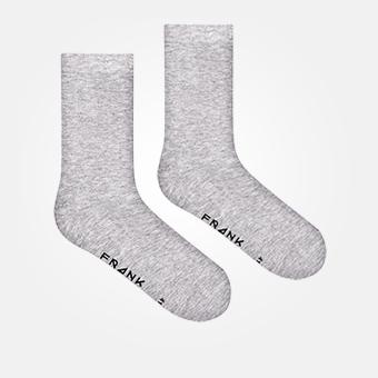 Grey Melange - Bamboo Solid Crew Sock