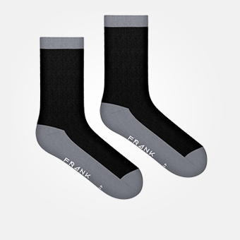 Charcoal Gray - Bamboo Contrast Sock