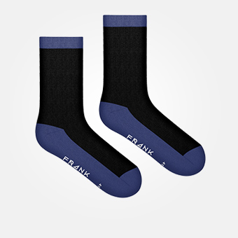 Dark Navy - Bamboo Contrast Socks