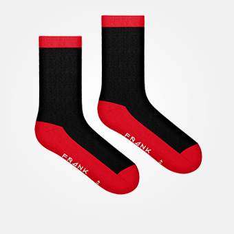 Red - Bamboo Contrast Sock
