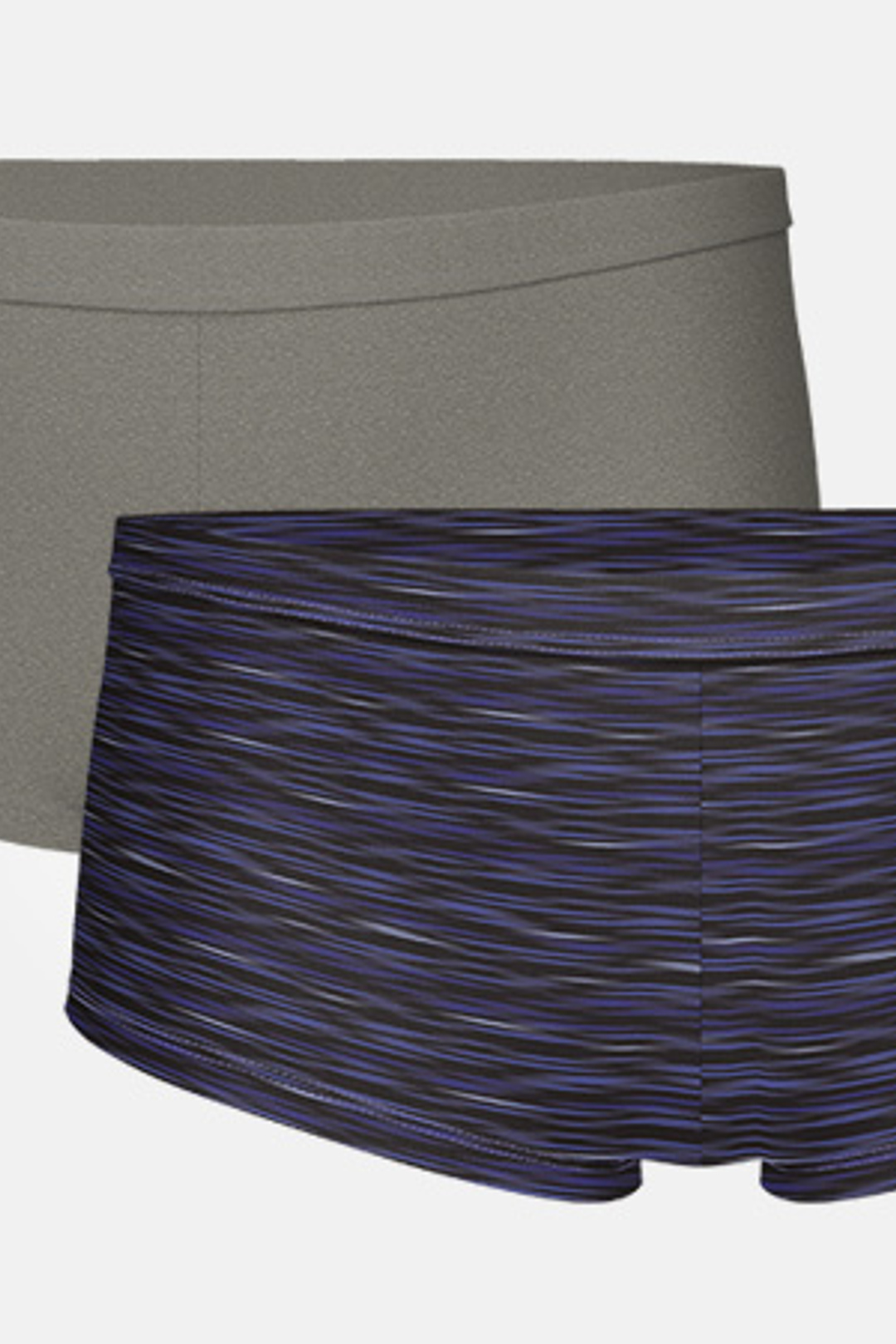 2-pack Women's Bamboo Boxer - Charcoal Gray/Space Grey Navy