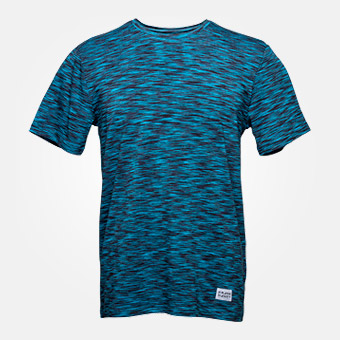 Bamboo Straight Tee - Space Blue Black