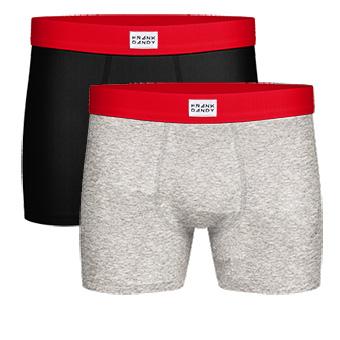 2-Pack X-mas Box Boxer - Grey/Black