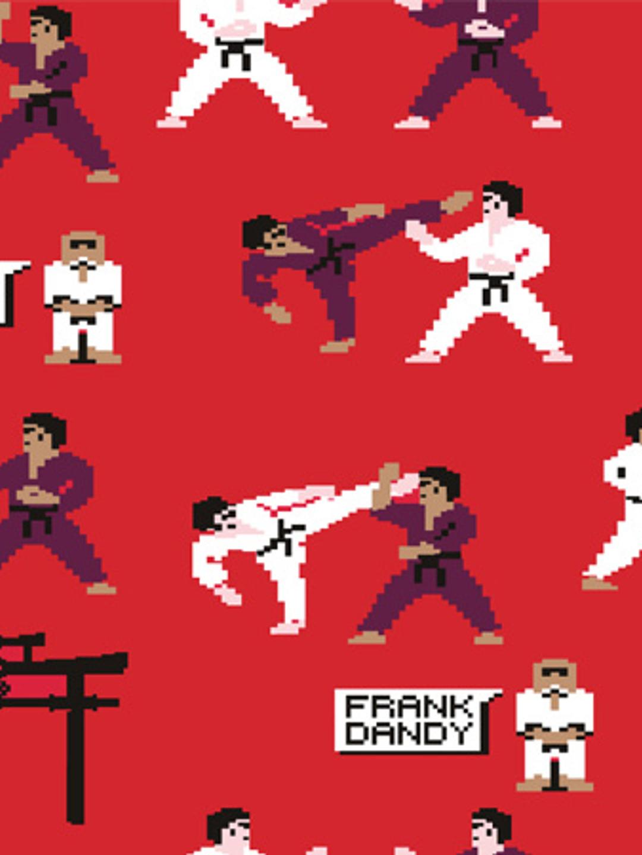 Pixel Sensei Boxer - Red Flame