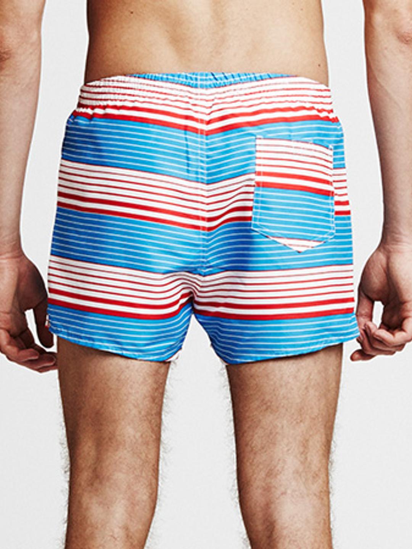 Sunset Stripe Swimshorts - Light Blue