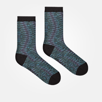 Space Blue Black - Bamboo Socks