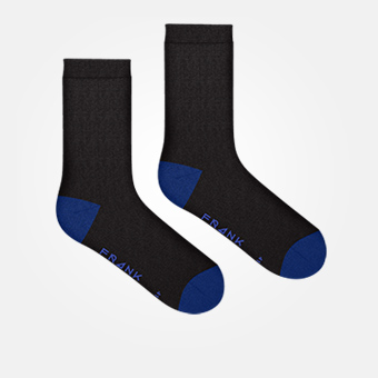Black/Dark Blue - Bamboo Socks