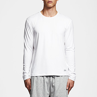 Bamboo Long Sleeve Tee - Vit