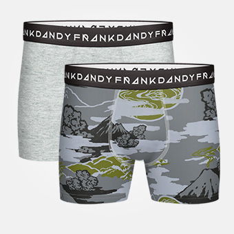 2-Pack Mount Haze Boxer - Grey Melange/Military Green