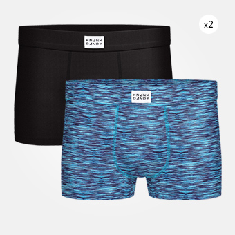 2-Pack Bamboo Trunk - Black/Space Blue Black