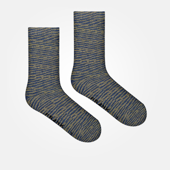 Space Green Indigo - Bamboo Socks