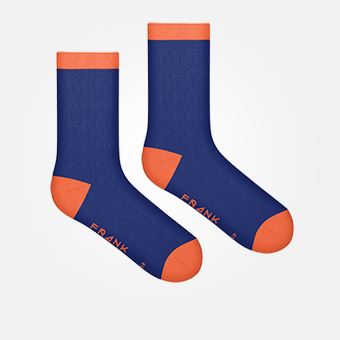 Dark Navy/Orange - Bamboo Socks