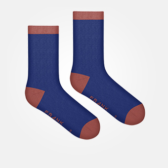 Dark Navy/Ketchup - Bamboo Socks