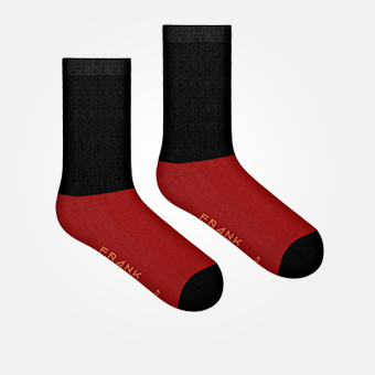 Burgundy - Bamboo Block Socks