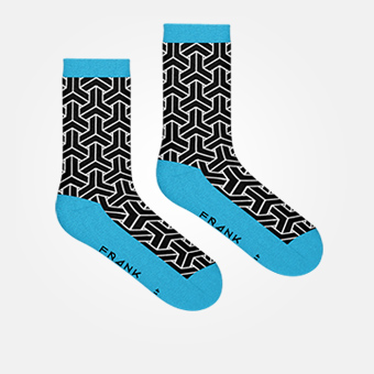 Black/Blue Sky - Bamboo Socks
